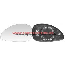 Spätné Zrkadlo Citroen C4 - Ľavé sklo zrkadla s pl. držiakom, vyhrievané, konvexné, modré - A6431855