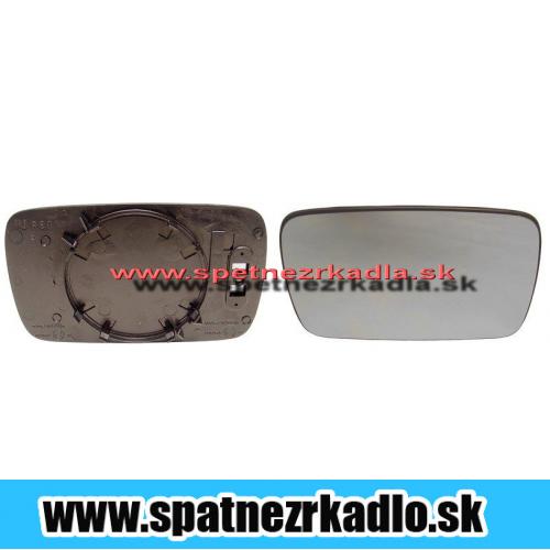 Spätné zrkadlo BMW 3 E36 - Ľavé sklo zrkadla s plastovým držiakom, vyhrievané, modré sklo