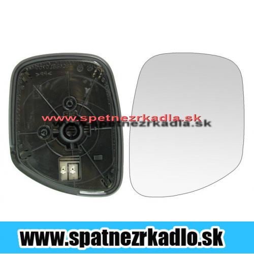 Spätné zrkadlo Fiat Croma - Ľavé sklo zrkadla s pl. držiakom, vyhrievané, konvexné, modré
