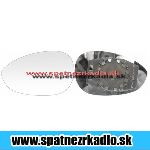 Spätné zrkadlo Fiat Grande Punto - Ľavé sklo zrkadla s pl. držiakom, vyhrievané, konvexné