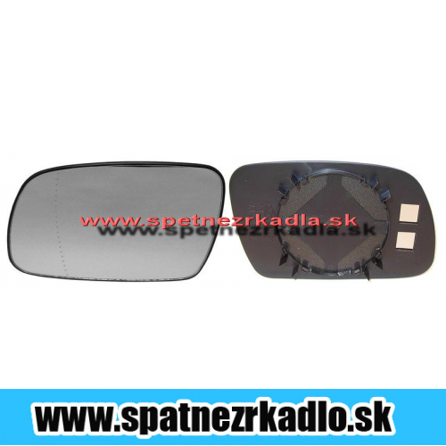 Spätné zrkadlo Peugeot 307 - Pravé sklo zrkadla s pl. držiakom, konvexné