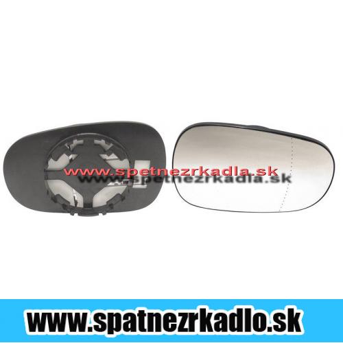 Spätné zrkadlo Renault Clio - Pravé sklo zrkadla s pl. držiakom, konvexné