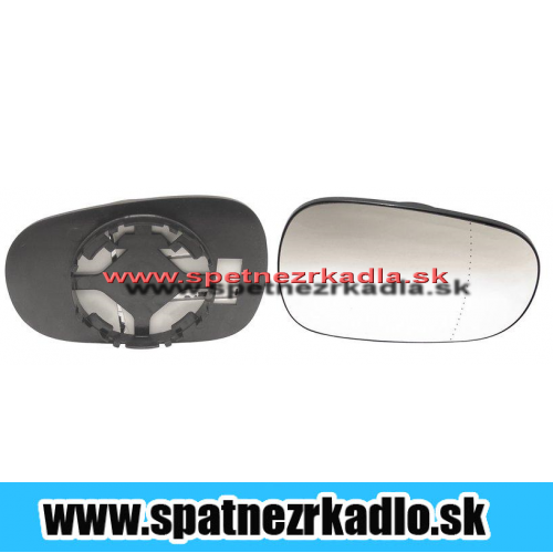 Spätné zrkadlo Renault Clio - Pravé sklo zrkadla s pl. držiakom, vyhrievané, konvexné