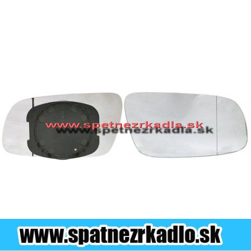 Spätné zrkadlo  Seat Alhambra - Ľavé sklo zrkadla s pl. držiakom, asferické 08/00  -