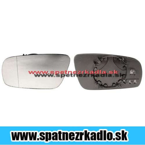 Spätné zrkadlo Volkswagen Golf - Ľavé sklo zrkadla s pl. držiakom, vyhrievané, asferické, modré