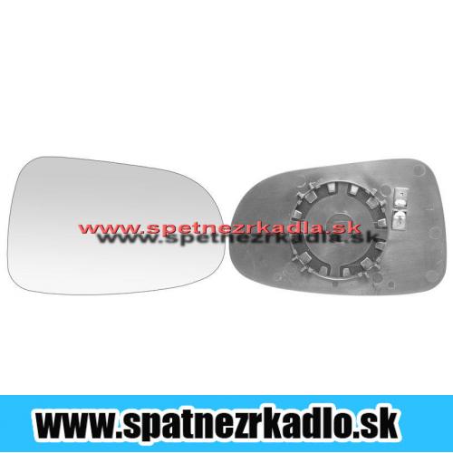 Spätné zrkadlo Volkswagen Sharan - Pravé sklo zrkadla s pl. držiakom, vyhrievané, konvexné