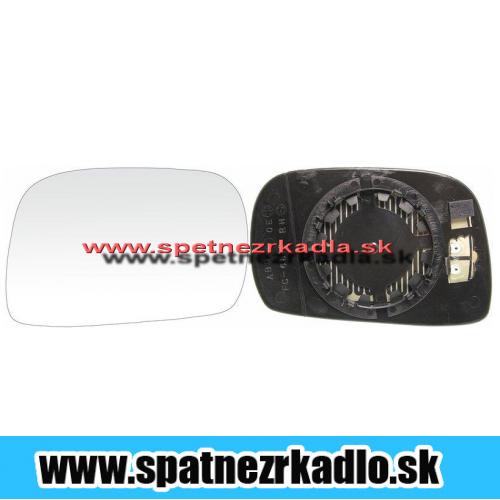 Spätné zrkadlo Opel Agila A - Ľavé sklo zrkadla s pl. držiakom, konvexné