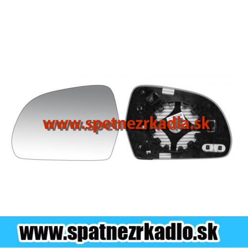 Spätné zrkadlo Škoda Superb 2 - Ľavé sklo zrkadla s pl. držiakom, vyhrievané, asferické, tónované, originál