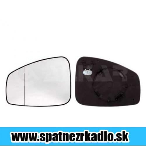 Spätné zrkadlo Renault Megane - Pravé sklo zrkadla s pl. držiakom, konvexné, vyhrievané