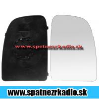 Spätné zrkadlo Citroen Jumper - Ľavé sklo zrkadla s pl. držiakom, konvexné Citroen Jumper 04/06 - 2014