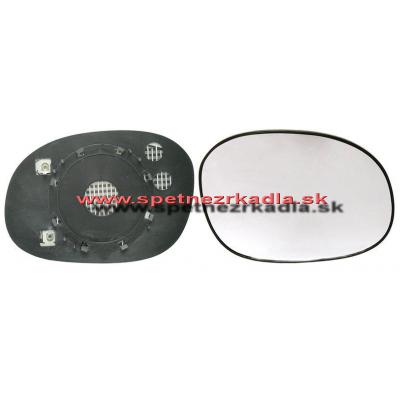 Spätné zrkadlo Citroen C3 Pluriel - Ľavé sklo zrkadla s pl. držiakom, konvexné