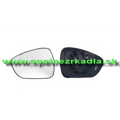 Spätné zrkadlo Citroen C4 - Ľavé sklo zrkadla s pl. držiakom, vyhrievané, konvexné