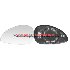 Spätné Zrkadlo Citroen C4 Coupe 11/04 - 11/10 - Spätné zrkadlo Citroen C4 Coupe - Ľavé sklo zrkadla s pl. držiakom, vyhrievané, konvexné, modré - A6431855