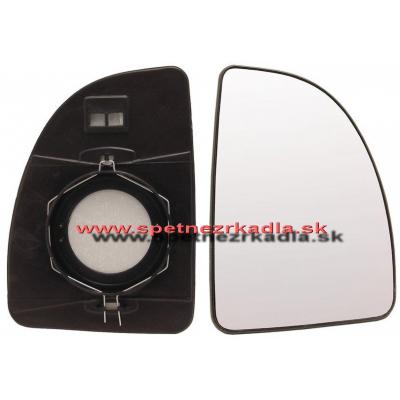 Spätné zrkadlo Citroen Jumper - Ľavé sklo zrkadla s pl. držiakom, konvexné