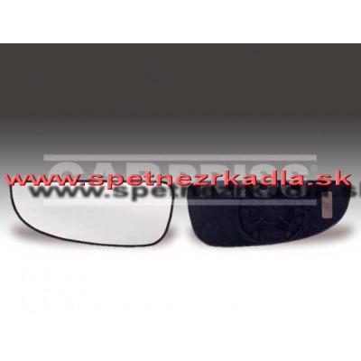 Spätné zrkadlo Citroen Jumper - Ľavé sklo zrkadla s pl. držiakom, konvexné, menšia časť