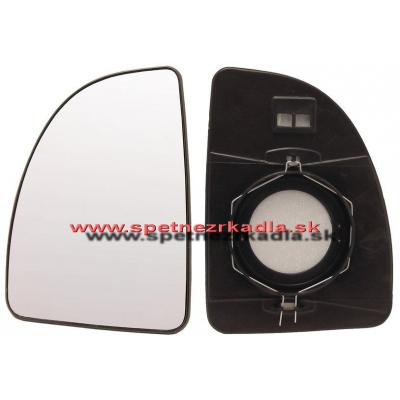 Spätné zrkadlo Peugeot Boxer - Ľavé sklo zrkadla s pl. držiakom, vyhrievané, konvexné