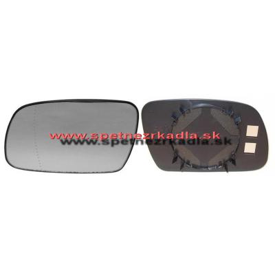 Spätné zrkadlo Peugeot 307 - Ľavé sklo zrkadla s pl. držiakom, asferické