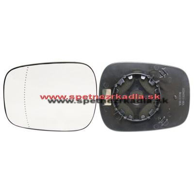 Spätné zrkadlo Renault Kangoo - Ľavé sklo zrkadla s pl. držiakom, vyhrievané, konvexné