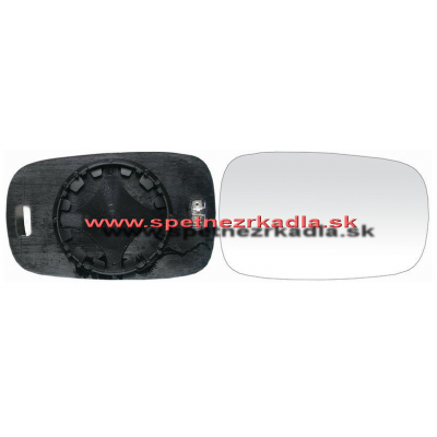 Spätné zrkadlo Renault Megane - Ľavé sklo zrkadla s pl. držiakom, vyhrievané, asferické