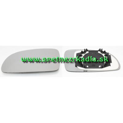 Spätné zrkadlo Volkswagen New Beetle - Ľavé sklo zrkadla s pl. držiakom, konvexné - 01/02