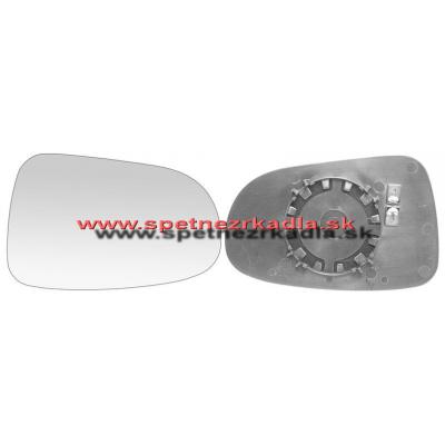 Spätné zrkadlo Volkswagen Sharan - Ľavé sklo zrkadla s pl. držiakom, vyhrievané, asferické
